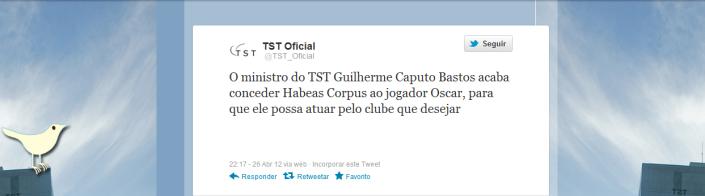 Twitter Oficial TST